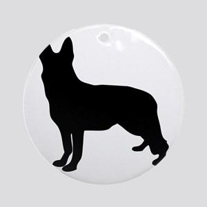 German Shepherd Silhouette Ornament (Round)
